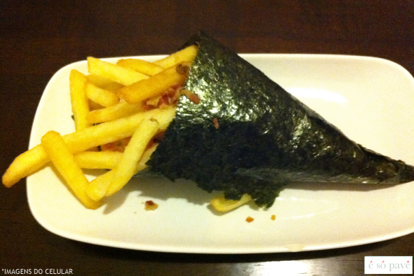 temaki batata frita french fries hand roll