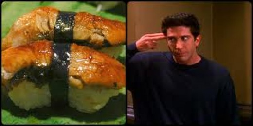 friends de one with unagi episódio com unagi freash water eel salmon skin roll